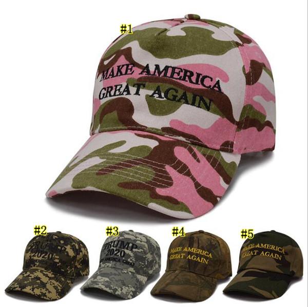 Trump Snapbacks Kamuflaj Şapka Amerika Büyük Yapmak Yine Donald Trump 2020 Beyzbol Şapkası Cumhuriyet Ayarlanabilir Şapka 10 Renkler MMA1601 60 adet
