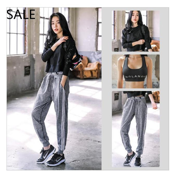 Women Tracksuits Yoga 3 Piece Set Crew Neck Long Sleeve Design Health Ladies Daily Yoga Suits Sport Style Spring Fashion Plus Size Cotton