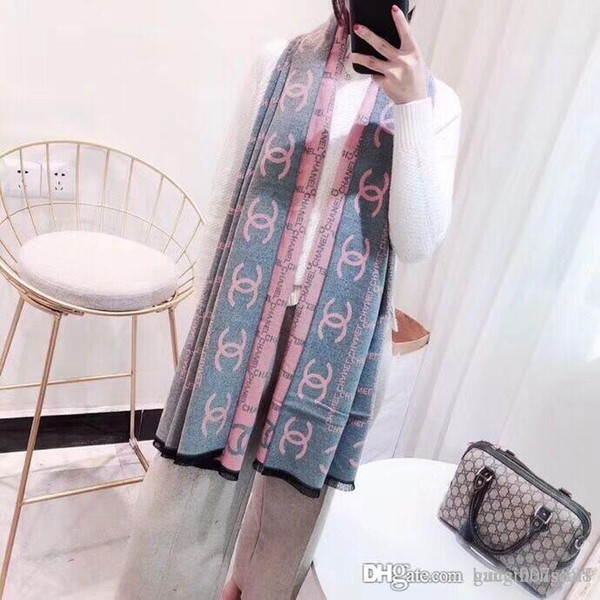 Fashion Winter Top Cashmere SALE!! 2019 hOT Scarf For Women and Men 2019 Large Check Oversized Blanket Scarves Infinity Scarfs