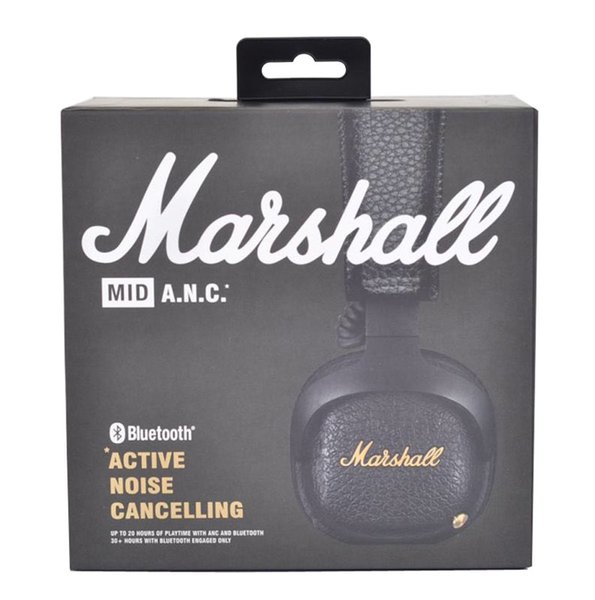 Marshall MID ANC Bluetooth Headphones Active Noise Cancelling Wireless DJ Headphone Deep Bass Gaming Headset For Smart Phone DHL FEDEX