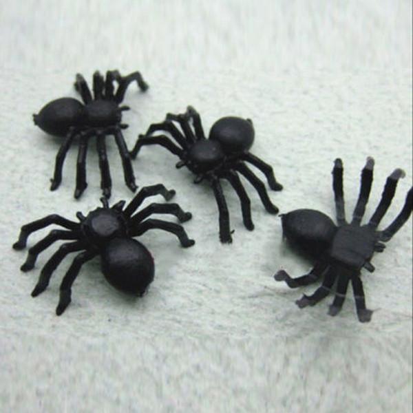 Plastic Black Spider Halloween Decoration Festival Supplies Funny Prank Toys Decoration Realistic Prop