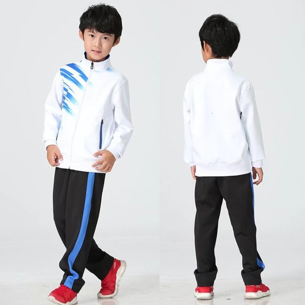 Children's white with black pants