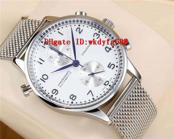 2018 New Portuguese mens watches swiss 7750 Automatic Chronograph Movement 28800 VPH Sapphire Crystal 316L Stainless Steel net Bracelet