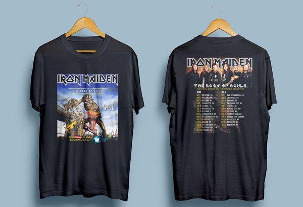 Camiseta negra Iron Maiden Final Tour para hombre Talla: S-M-L-XL-XXL