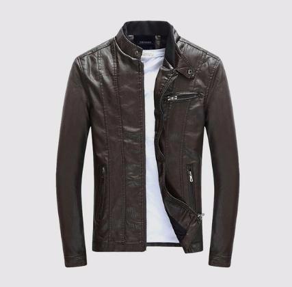 Mens PU Coats Motorcycle Biker Faux Leather Jacket Men Autumn Winter Clothes Male Classic Thick Velvet Coat
