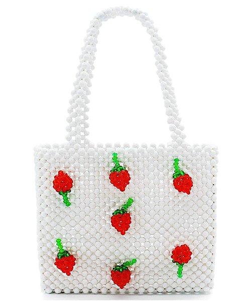 RetroPie INS Super Fiery Bag Cherry handbag Hand beaded bag Retro Focus Design Mini-gir