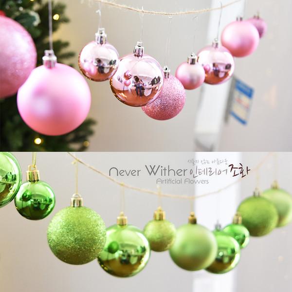 Y1051 Vinte e quatro cano luminosa sub-rosa enfeites de pingente de bola de Natal G