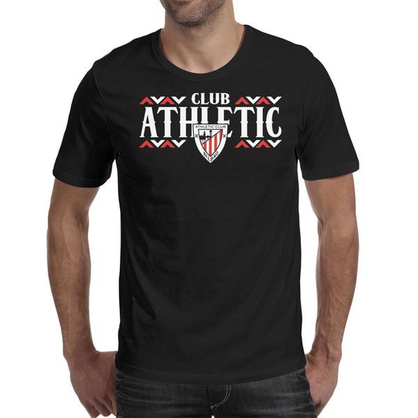 Athletic Bilbao Los Leones ATH label black t shirt,shirts,t shirts,tee shirts shirt design graphic crazy band casual t shirt