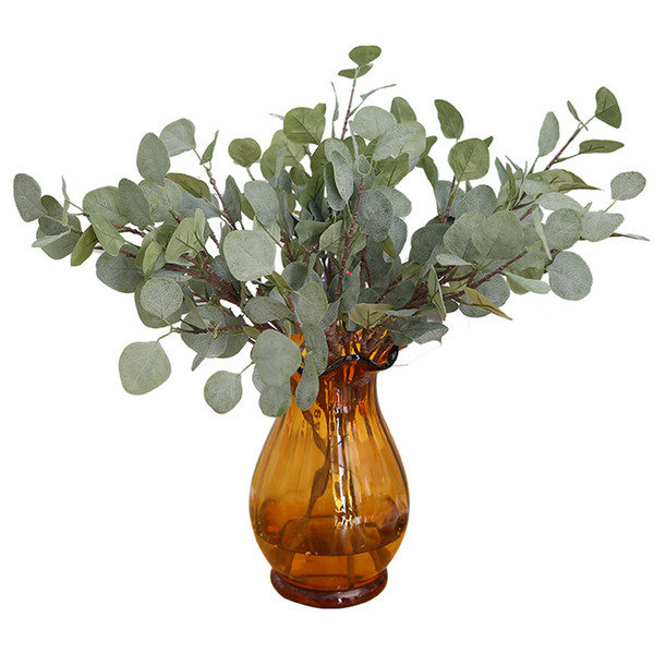 Artificial Leaf Decorative Leaf Plastic Branch Silk and Rubber Plastic Material Plant Shaped Home Deocation
