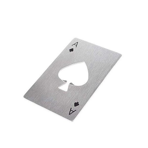 Naipes Ace of Spades Poker Bar Tool Botella Soda Cerveza Abridor de regalos Regalo