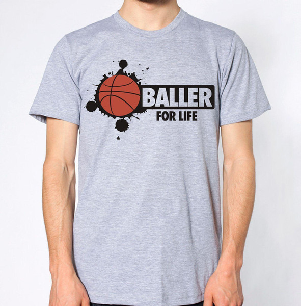 Baller For Life Баскетбол Новый T-Shirt