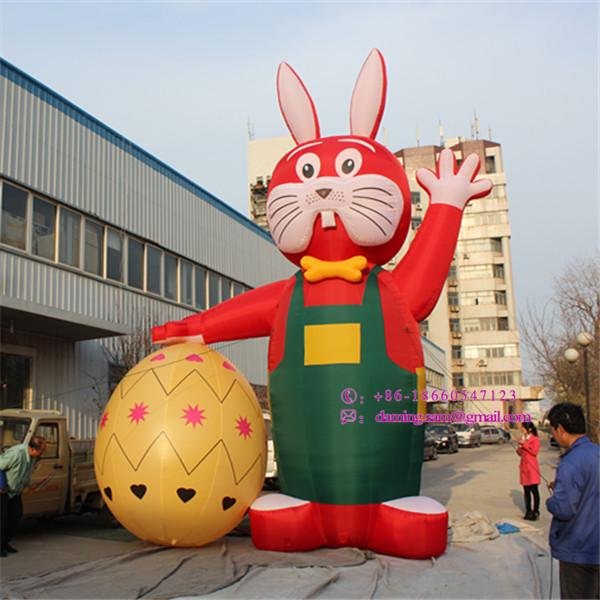6a450f361 Customized Easter Bunny Inflatable Rabbit Event decoration Factory price  inflatable suit with Free Logo Printing for Park Advertising