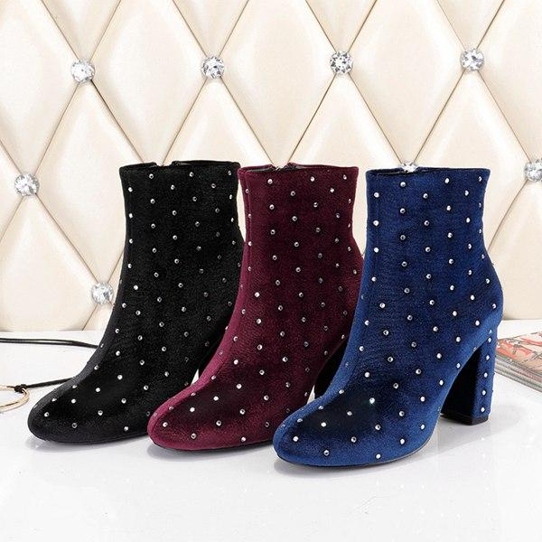 Luxury Star TStyle High-heeled Heel Shoes free shipping Brand Booties Leather women Boots With Patches Wedge Ankle Boot