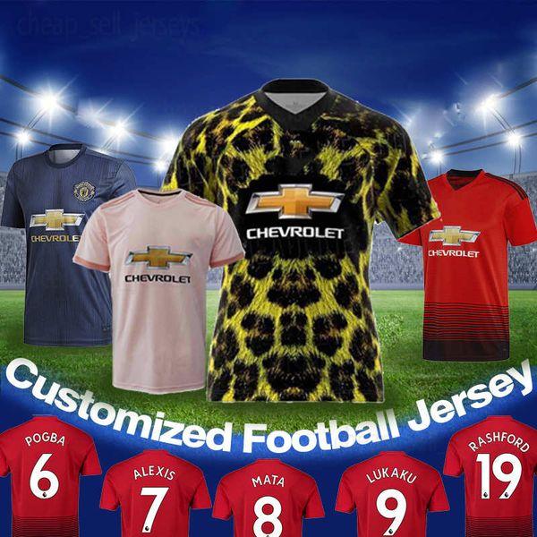 big sale 259a6 596a2 2019 Thailand Quality 18 19 Jerseys 6 Paul Pogba 8 Mata 7 Sanchez 9 Romelu  Lukaku 11 Anthony Martial 17 Fred 31 Matic Football Shirt From ...
