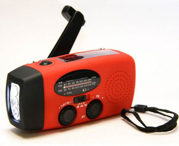 3 in 1 Emergency Charger Hand Crank Generator Wind/Solar/Dynamo Powered FM/AM Radio,Phones Chargers LED Flashlight LLFA