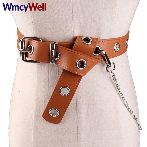 ead0726116eea WmcyWell Detachable Waist Belt Chain Punk Hip-hop Trendy Women Belts Lady  Fashion Silver Pin