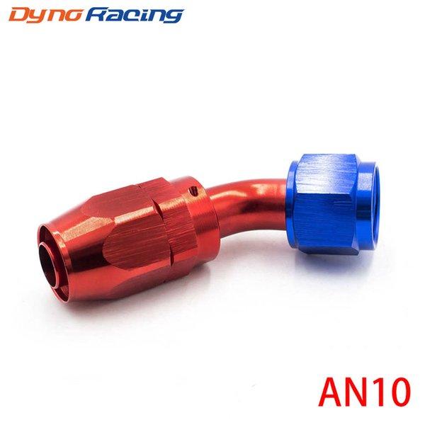 best selling High Performance AN 10 Fitting AN10 Aluminum Fittings 45 Degree Oil Fuel Swivel hose fittings TT100354-45RD
