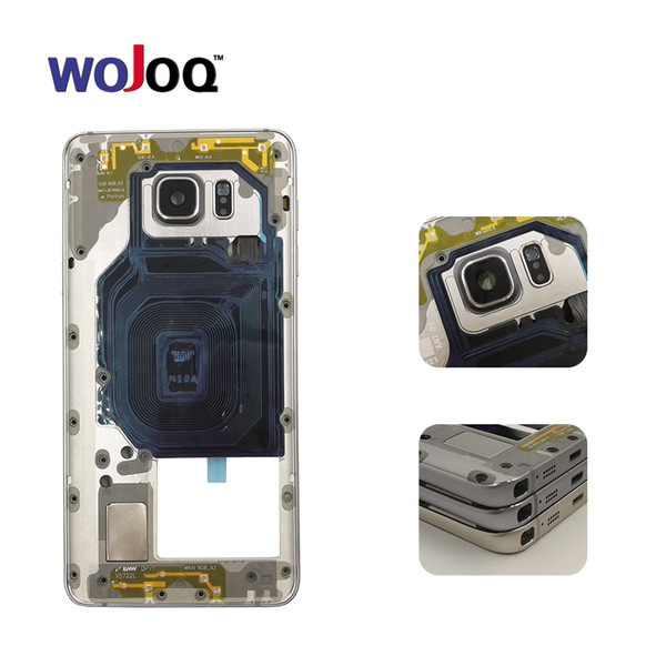 vendita all'ingrosso originale per Samsung Note 5 N920F N920C alloggiamento piastra centrale cornice cornice + pulsante laterale + obiettivo della fotocamera + NFC