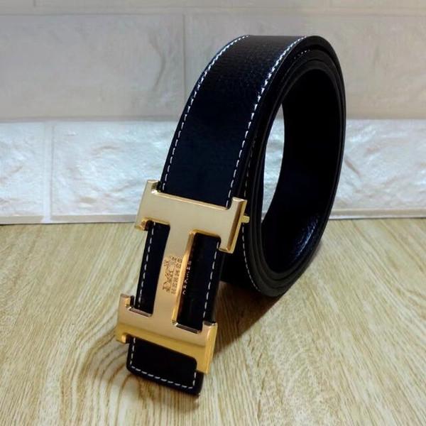 New Fashion Brand Designer Belts for Men Sliding Buckle Ratchet Luxury Leather Men Cowskin Belt Automatic ceinture homme