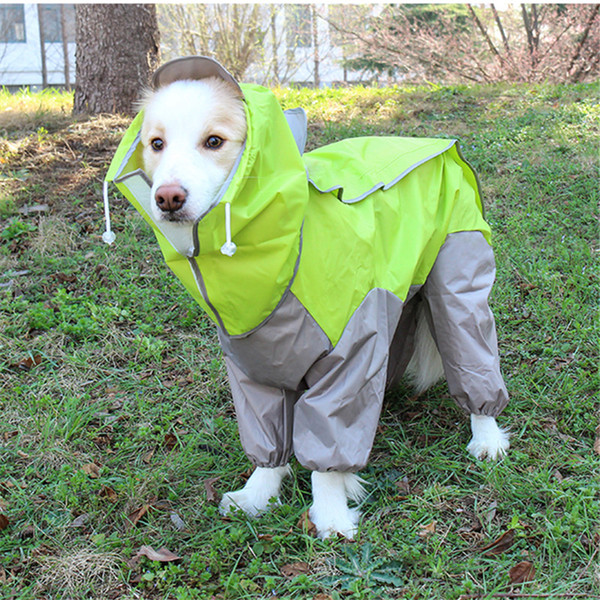 Waterproof Dog Raincoat Small Med Large Dog Rain Jacket Closed Belly Cuttable Girl/Boy Dog Clothes 7 Color 10 Sizes
