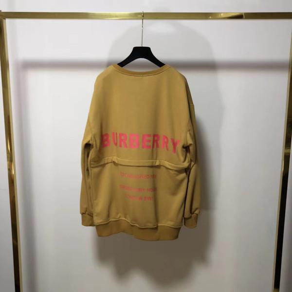19ss Новый роскошный дизайн бренда bbr обратно zip свитер с капюшоном Мужчины Женщины Мода повседневная Уличная Кофты Рубашки на открытом воздухе рубашки