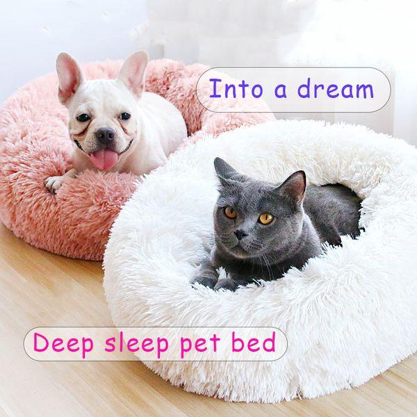 Super Keep Warm Cute Soft Cats Dogs Bed Winter Mats House for Cat Lovely Soft Plush Cat Nest Pet Deep Sleeping Bed