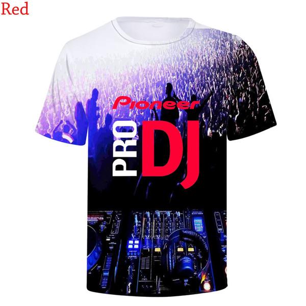 Latest Fashion Pioneer Pro Dj T Shirts Print Round Neck Short Sleeve Men Women Hip Hop 3d T-shirts Tee Shirt Sweatshirts Tops C19042201