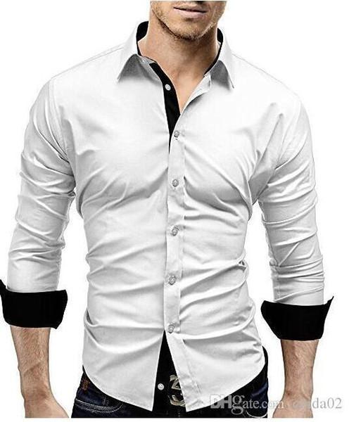 Alta Calidad Hombre Camisa Larga Manga Charm2019 De Compre w1SIIX