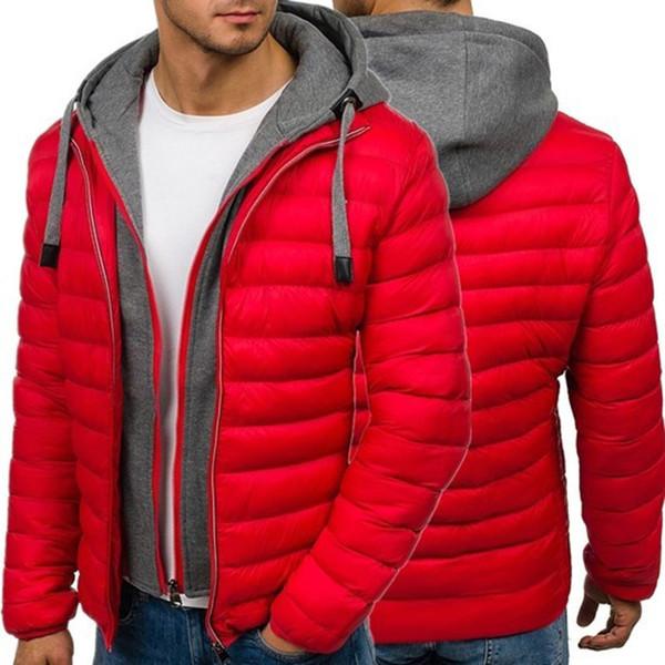 ZOGAA Vente Chaude Hiver Hommes Veste Simple Mode Manteau Chaud En Tricot Manchette Conception Male's Thermal Marque De Mode Parkas