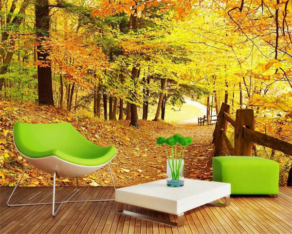 Customized Modern Environmentally Friendly Beautiful Scenery Forest Hd Natural Scenery Tv Backgroundpapel De Parede Wall Papers Home Decor Hd