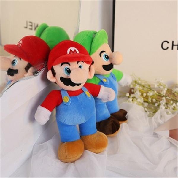 "Hot Sale 2 Style 10"" 25CM MARIO & LUIGI Super Mario Bros Plush Doll Stuffed Toys For Baby Good Gifts K0174"