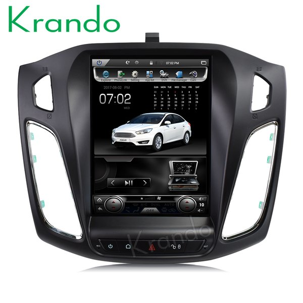 """Krando Android 7.1 10.4"""" Vertical screen car dvd radio gps navigation player for Ford Focus 2012+ multimedia system with Bluetooth"""
