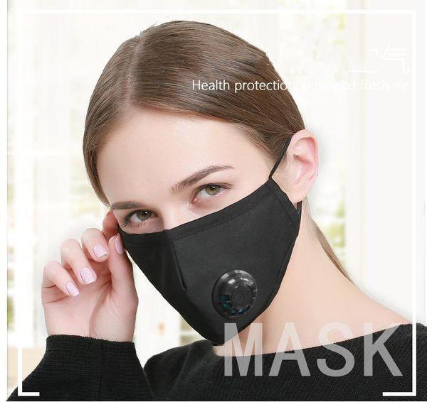 Anti poeira PM 2.5 boca rosto máscara com válvula de respiração carvão ativado homens mulheres crianças camuflagem boca mufla respirador parar a poluição do ar