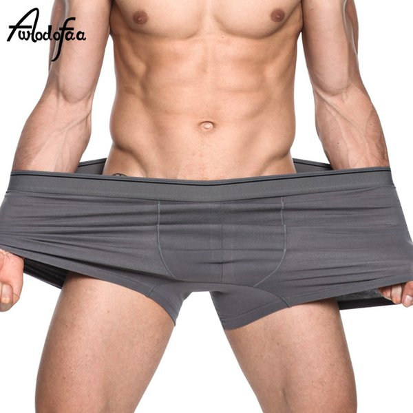 4Pcs/lot Male Panties Hot Sell New Quality Men's Boxers Shorts Mr Spring Cotton Loose Large Extra Plus Size Fat Underwears 6XLMX190904