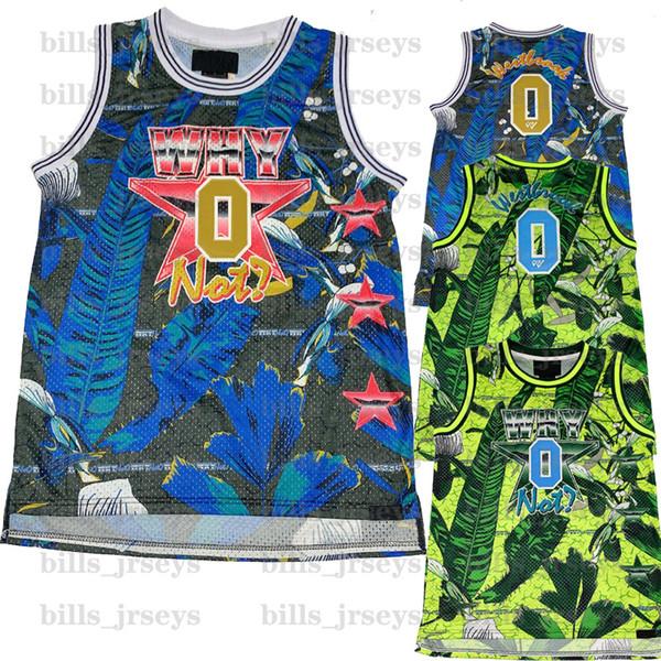 Pas cher Vente 2019 Hommes Nouveau AJ Why Not maillot NCAA russell 0 westbrook Maillots De Basketball 100% Cousu Throwback Haute qualité