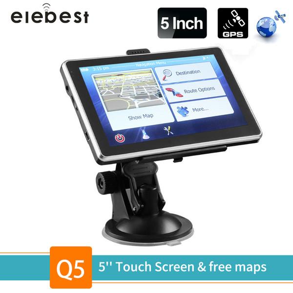 2019 Elebest Car SAT NAV 5 Inch GPS Navigation Truck Navigator 128M 8GB FM  Touch Screen Europe Israel North America Maps Free Upgrade From Cujuflo,