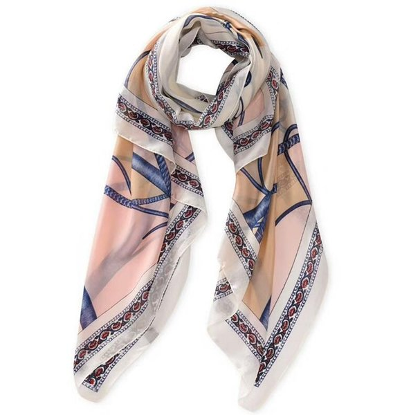 Fashion Scarves For Women Printing Long Soft silk scarf Women Wrap Scarf Lady Shawl Scarves Chiffon Slik Ladies Shawl Summer Beach muffler