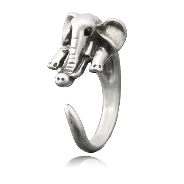 Boho Chic Elephant Ring For Women Anel Midi Finger Animal Couple Rings Antique Jewelry Male Unique Cool Gift Ideas Metal