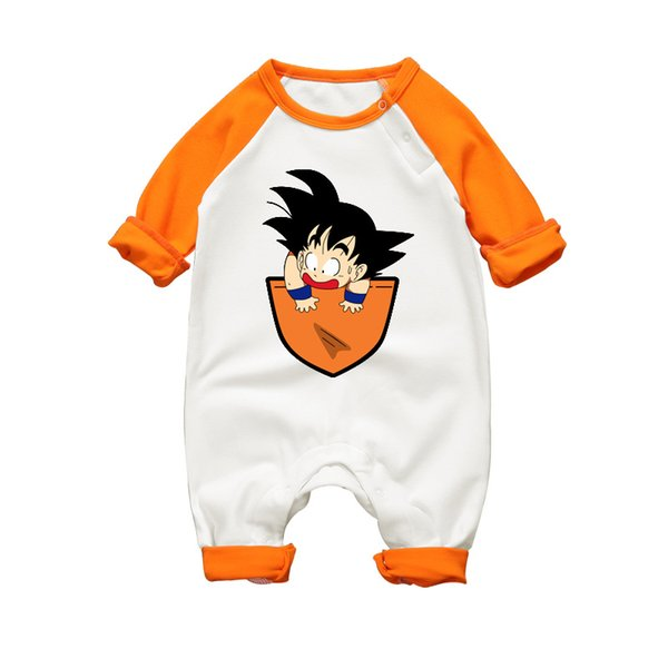 Newborn Jumpsuit Long Sleeve Cotton Romper Clothes Baby Jumpsuit For Babies Unisex Goku Cartoon Funny Infant Boy Girl Clothing J190525