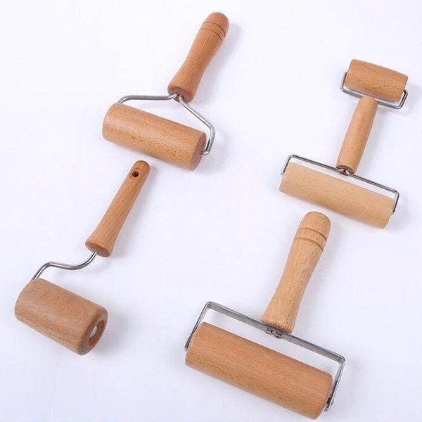 top popular Wooden Non-stick Glide Rolling Pin Fondant Cake Dough Roller Decorating Cake Pizza Roller Baking Cooking Tool QW9080 2020