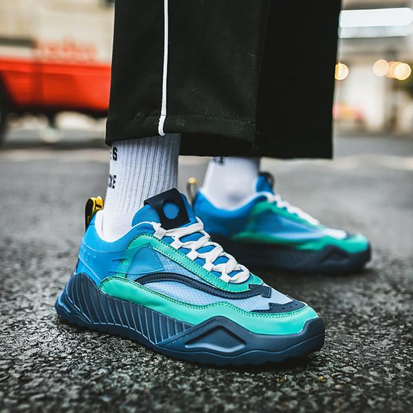 2019 uomini scarpe da ginnastica Nuove modelle comoda di modo della gioventù dei pattini casuali per Male molle della maglia design pigri Scarpe Zapatos de hombre C1-38