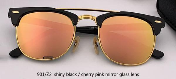 901 / Z2 مرآة لامعة سوداء / الوردي الكرز