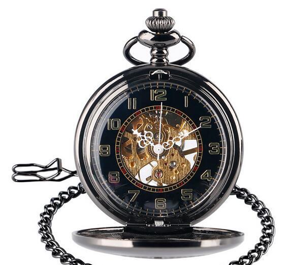 New fashion hollow finestra fiore manuale meccanico orologio da tasca romano letterale regalo da uomo tavolo esplosione vendita calda mm12