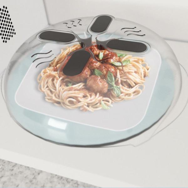 Mikrodalga fırın taşma kapağı Anti-Püskürtme Gıda Manyetik Kapaklar Splash Hover Steam Vents Guard
