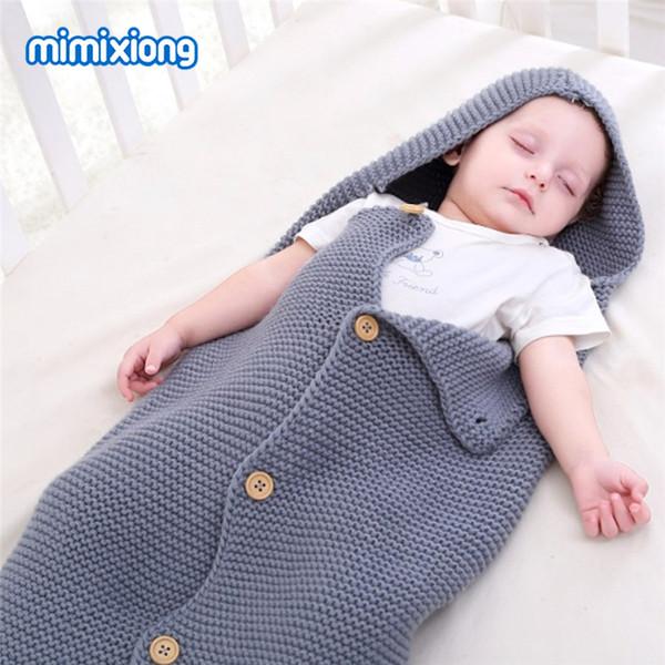 Envelope For Newborns Sleeping Bag Summer Air Conditioning Baby Boys Girl Sleep Sacks Acrylic Knit Toddler Stroller Swaddle Wrap