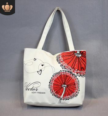 Designer-student simple canvas bag female shoulder small art literary female fresh bag handbag school bag