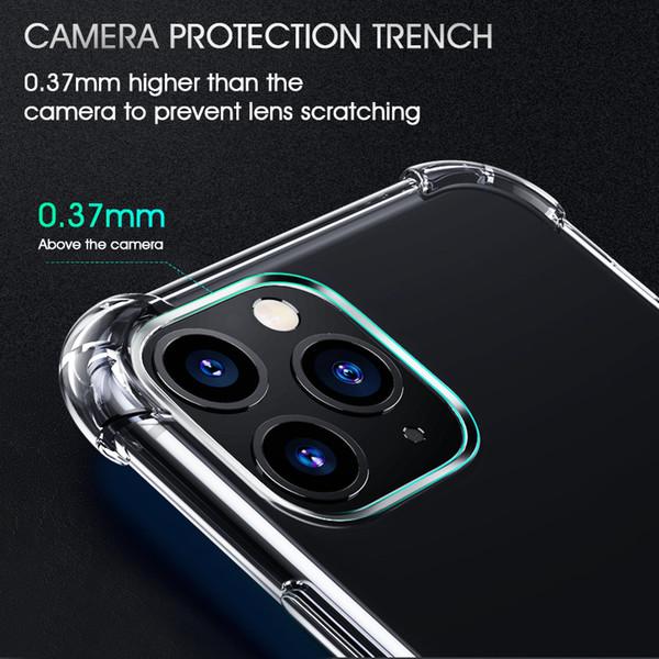 Ударопрочный силиконовый телефон чехол для iPhone 11 Pro Max Прозрачный чехол для Iphone 11 Pro Max Clear Cover