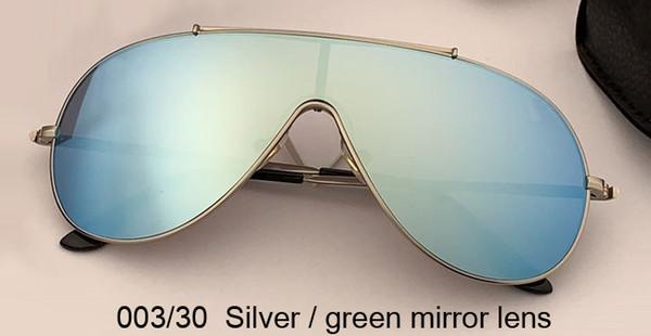 lentille miroir argent / vert