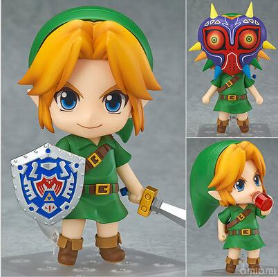 Hot ! NEW 10cm Legend of Zelda Link Majoras Mask FIGURE ONLY Limited-Edition action figure toy Christmas gift with box