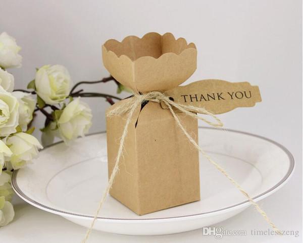 Jarrón de bricolaje creativa bolso de la caja del caramelo del regalo de cumpleaños de la personalidad retro cajas de papel kraft decoraciones de la fiesta de cumpleaños